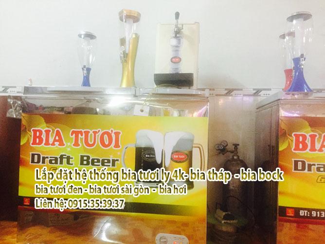 lắp đặt bia đen - bia tươi vàng 4k - bia tháp - bia ly 4k - bia hơi sg
